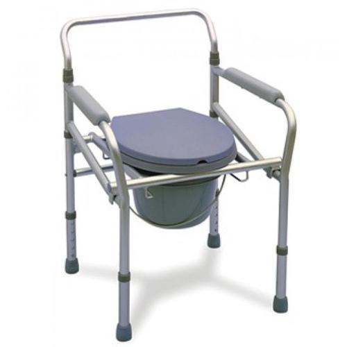 Foldable Height Adjustable Commode Chair